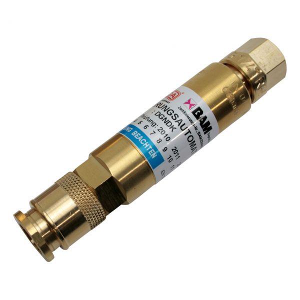 """Sicherheitseinrichtung Druckminderer, D-Serie (EN 561), Sauerstoff, 1/4"""" RH"""