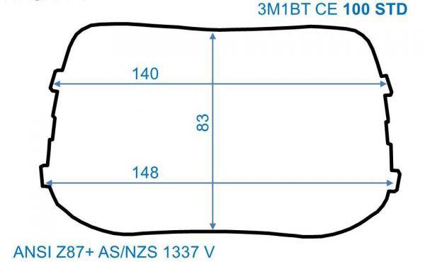 Äußere Vorsatzscheiben SPEEDGLAS 100, 140 x 85 mm, STANDARD, 10er-Pack