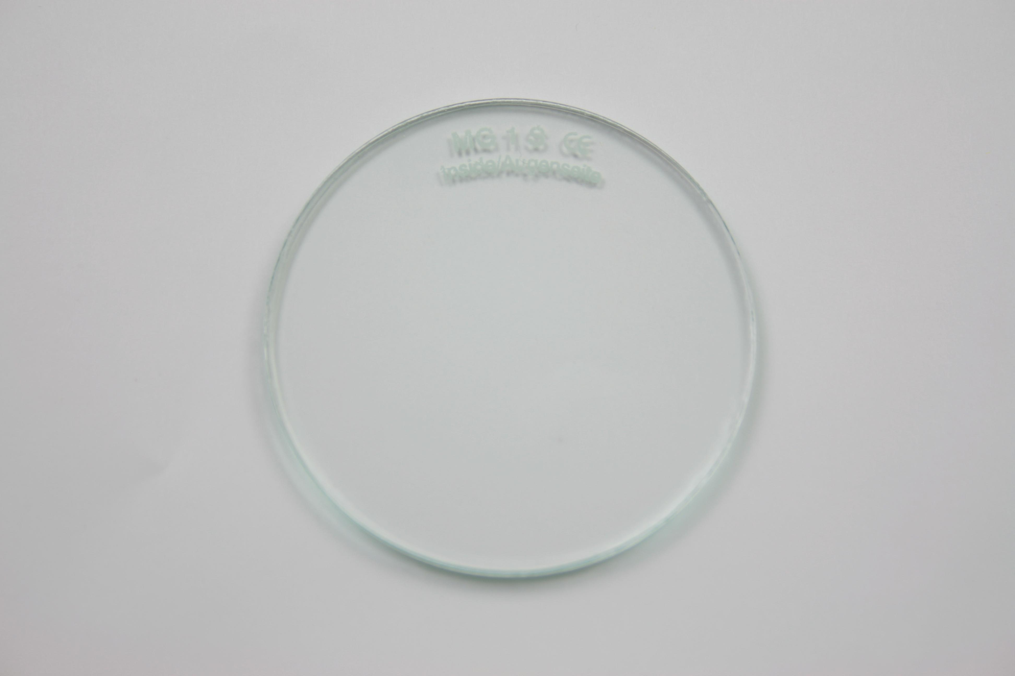 2x Brillenglas Brillengläser klar rund Ø 60mm Verbundglas splitterfrei  #