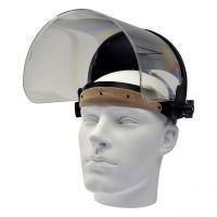 Gesichtsschutz, klar, Kopfhalterung, klappbare PC Scheibe 360x200x1mm