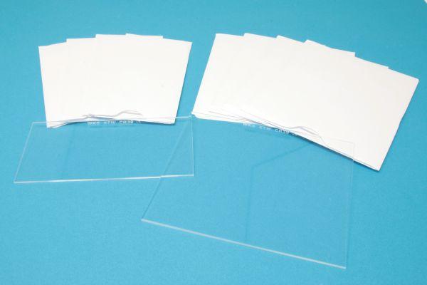 1000 Stundenglas, klar, CR39, EN 166, einzeln in Papiertüte