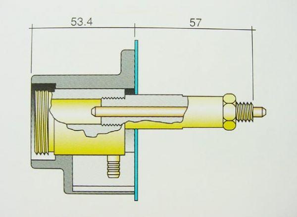 Umrüstsatz Euro-Zentralanschluss, Gasanschluss außerhalb 90° nach unten
