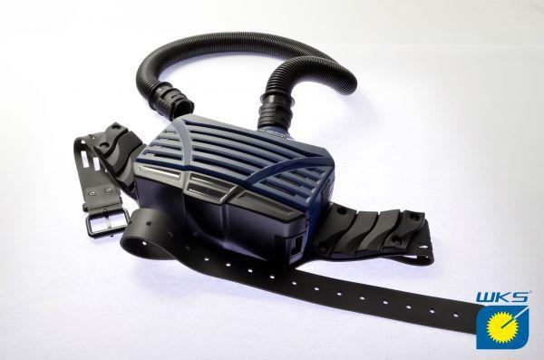 optrel® e3000 PAPR, komplettes System (Blau), OHNE Kopfschirm
