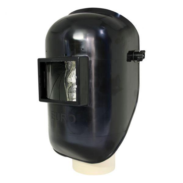EURO Kopfschirm aus ABS, schwarz, mit stufenlosem Kopfband, ohne Glas