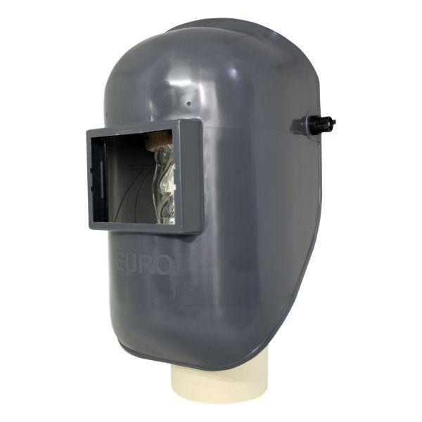EURO-GF Kopfschirm aus PA/GF, grau, mit stufenlosem Kopfband, mit Glas
