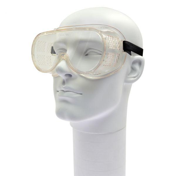 Vollsichtbrille klar mit einteiliger Scheibe, klar, antibeschlag