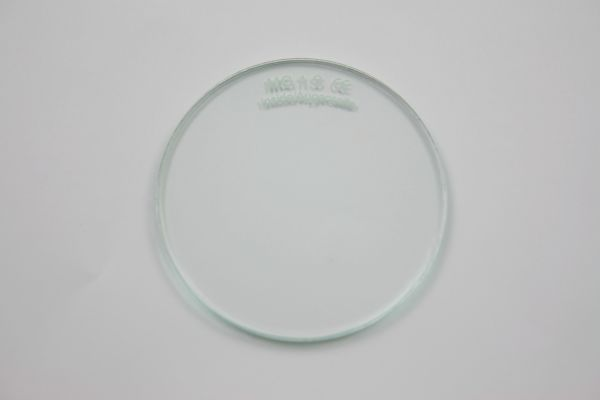 Brillenglas, Verbundglas, klar, splitterfrei, Ø 50 x 3 mm