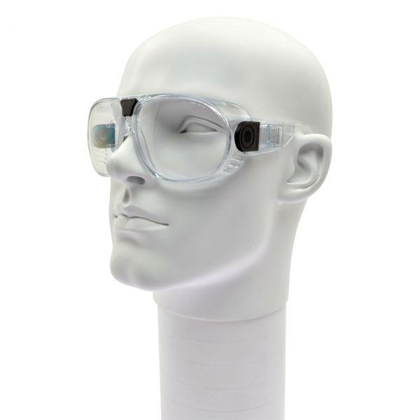 Schutzbrille PANORAMA, mit klaren Gläsern, aus PC Kunststoff