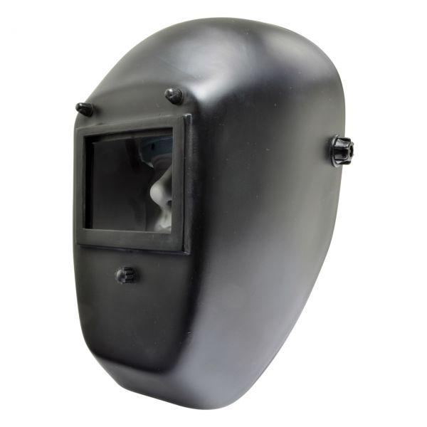WKS Schweißer-Kopfschutzschild GF-K 4, 90 x 110 mm, schwarz, ohne Gläser