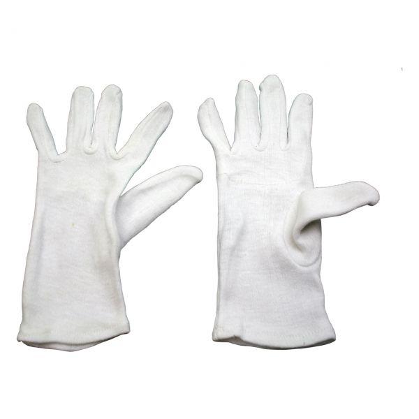 Baumwoll-Trikot-Handschuh, schwere Ausführung (gedoppelt), weiß, Größe 10