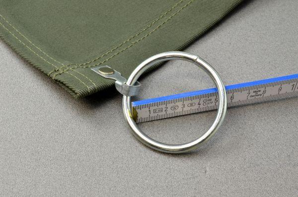 Ring Ø 50 mm mit Haken und Niete zusätzlich